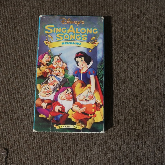 Disney Accents Sing Along Songs Heigh Ho Vhs Poshmark